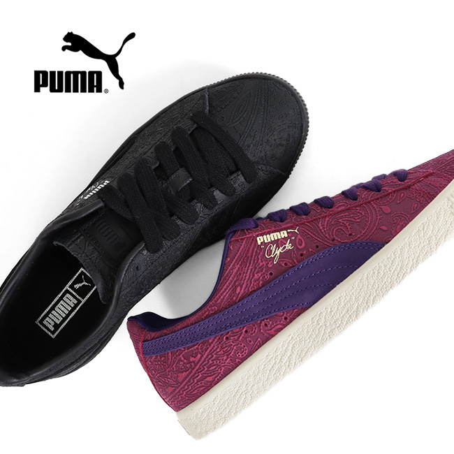 competitive price d9067 7a784 PUMA Puma Clyde paisley Clyde Paisley 369279 sneakers shoes (men's Lady's)