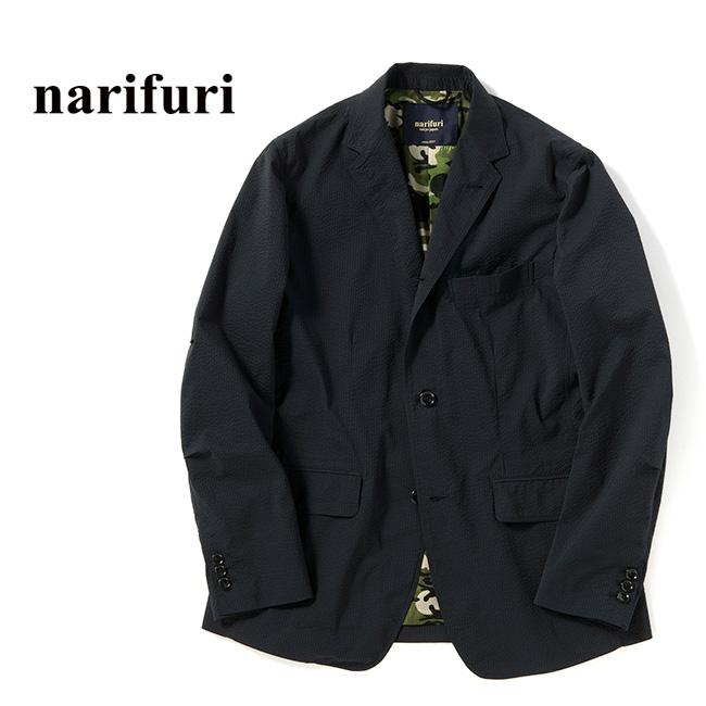 narifuri ナリフリ シアサッカーポケッタブルジャケット NF1042 テーラードジャケット ブレザー スーツ (メンズ)